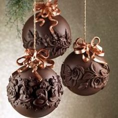 chocolate balls - what an amazing event decoration this would be over a dessert table?