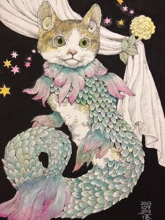 Cat mermaid....how incredibly awesome