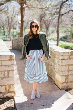 striped skirt :: JOA