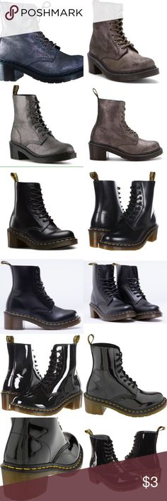 ‼️ISO ANY OF THESE DR.MARTEN BOOTS IN UK 8 US 10‼️ ❕❕I admit I have a terrible obsession with dr.marten boots. I have ever since middle school and with all the styles I've missed out on over the years I'm hoping to find a few in good condition!! If you see any PLEASE TAG ME!!‼️‼️ with my current sickness I've been doing lots of retail therapy and I'd love to snag a pair or two or three of these babies lol! I'll be posting a few styles!!‼️‼️ LOOKING FOR A WOMENS UK 8 US 10‼️ Thanks 😊 be…