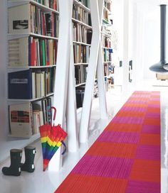 Colorful entry hallway
