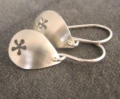 Daisy tears sterling silver earrings everyday earrings