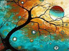 cuadros abstractos para pintar faciles