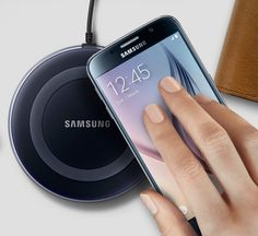 Check out the Samsung Wireless Charger! Eliminates cables and has a modern design for an amazing addition to your bedside, living room or kitchen!