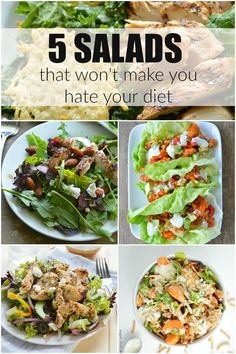 Low Carb Recipes To The Prism Weight Reduction Program 5 Salads That Wont Make You Hate Your Diet Heart Healthy Diet, Heart Healthy Recipes, Healthy Salad Recipes, Diet Recipes, Health Recipes, Healthy Options, Yummy Recipes, Best Lunch Recipes, Entree Recipes