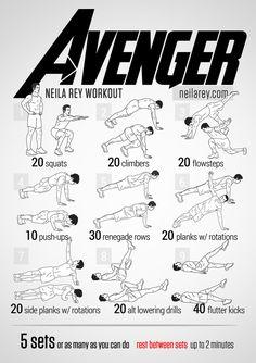 super hero workouts | Superhero Workout 5
