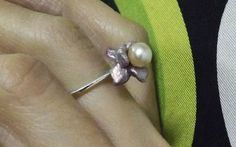 Blooming Flower Flower Ring Sterling Silver by BonTonContemporary Blooming Flowers, Promise Rings, Minimalist Design, Iris, Sterling Silver Rings, Belly Button Rings, Art Nouveau, Delicate, Pearls
