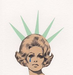 Liberty's Cry  Original Collage Mixed Media by kellygormanartwork, $16.00