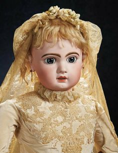 jumeau 16 doll | FRENCH ~ Bisque Bebe by Emile Jumeau, Size 16, with Outstanding ...