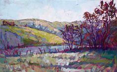 Paso robles orignal oil painting in textured oils by Erin Hanson