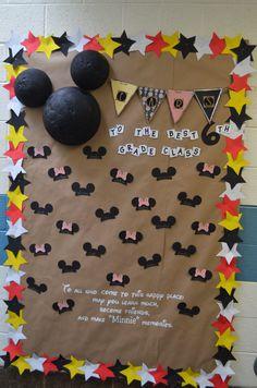 Mickey Mouse back to school bulletin board
