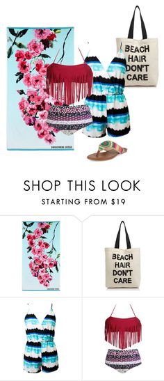 """Beach Hair, Don't Care!"" by qwertyuiop-sparta ❤ liked on Polyvore featuring Designers Guild, Fallon & Royce, Chicnova Fashion and The Sak"
