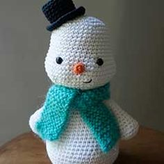 Snowman, crochet pattern, Download this free pattern at Amigurumipatterns.net