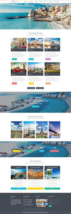 Buy Love Travel - Webflow by nicdark on ThemeForest. Welcome to Love Travel – Webflow Theme For Travel Agency This theme is suitable for travel agency that wants to have. Travel Website Design, Website Design Layout, Web Layout, Travel Design, Creative Web Design, Web Ui Design, Web Design Services, Santorini, Maquette Site Web