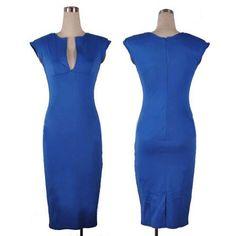 Sexy Deep V-neck Sleeveless Dress