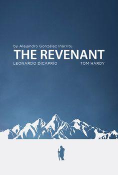 The Revenant (2015) ~ Minimal Movie Poster by Darkopuzo ~ Oscars 2016 Nominees #amusementphile