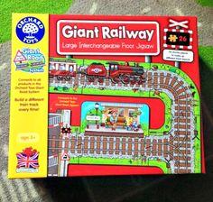 Orchard Toys Giant Railway Jigsaw | www.parenthoodhighsandlows.com