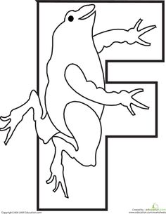 Color the Frog Letter F | Education.com