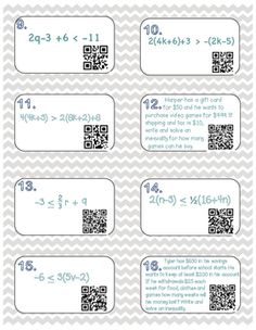 multi step inequalities inb foldable and qr code task cards - Graphing Inequalities On A Number Line Worksheet