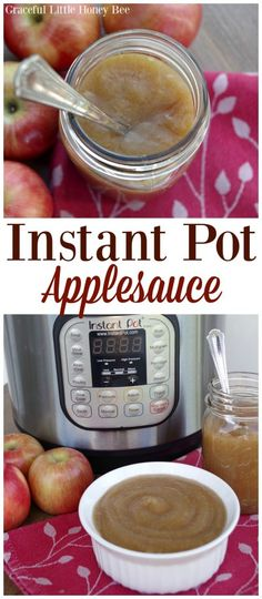 See how quick and easy it is to make Instant Pot Applesauce on gracefullittlehoneybee.com