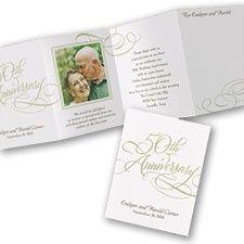 50th Anniversary Photo Flourish Invitation at CardsShoppe.com