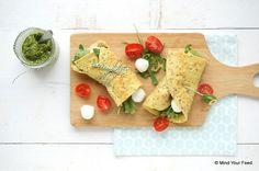 Een makkelijke, lekkere en gezonde lunch met deze Italiaanse havermout wrap met Caprese vulling.