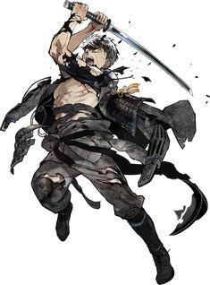 doudanuki masakuni (touken ranbu) drawn by akira (kaned fools) - Danbooru