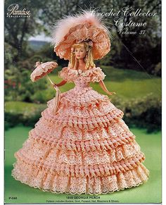 1848 Georgia Peach Crochet Collector Costume Volume 37 Fashion Doll Crochet Pattern