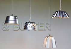 Semi-industrial-looking and (much as I hate to use the word) cute for a kitchen/dining room