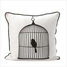 Bird Cage pillow.