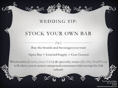 The Creative Cubby: Pinspiration Friday: Save Money on Your Wedding Bar