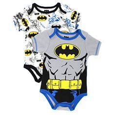 Batman Infant 2 pack Bodysuits (0/3M) DC Comics http://www.amazon.com/dp/B00NFVAXW6/ref=cm_sw_r_pi_dp_ixXgub0795GCG