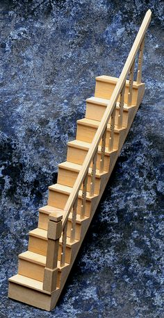 Dolls House Builders Timber DIY Miniature Simple Stair Bannister Kit  Staircase