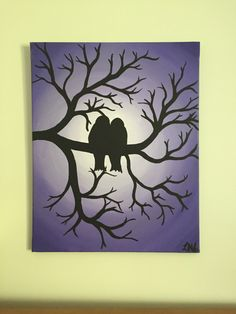 A personal favorite from my Etsy shop https://www.etsy.com/ca/listing/253060012/original-16x20-birds-in-tree-painting