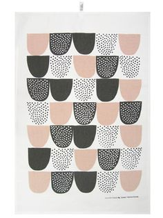 Doing the dishes will never be the same with this Sokeri Tea Towel, designed by Hanna Konola for Kauniste. Seemingly simple designs with a typical Scandinavian twist. #finland