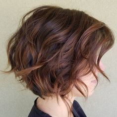 Chestnut Brown Wavy Bob