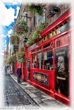 Temple Bar in Dublin, Ireland.