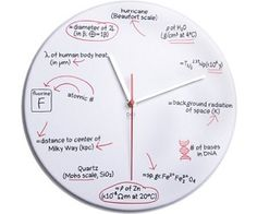 Science Quiz Clock - Want one!!