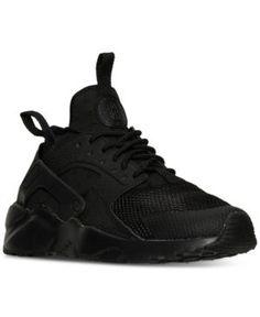 Nike Boys' Air Huarache Run Ultra Running Sneakers from Finish Line - Black 6.5