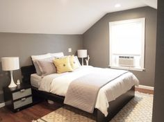 loving grey bedrooms lately