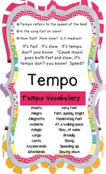 Sweet.  Another Music Elements Poster.  This one is for Tempo. $