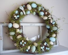 Crafty Sisters: Egg Wreath #3~all things Spring...