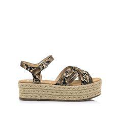 Sandalias de esparto con plataforma disponibles en el link del perfil Huaraches, Ss, Wedges, Heels, Link, Instagram, Fashion, Cute Sandals, Jute