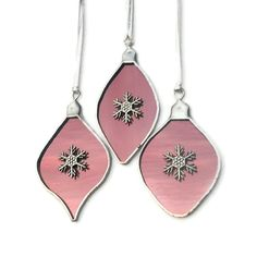 Pink Stained Glass Ornaments