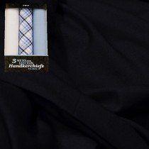 Raymond Men Trouser Fabric Blue Free Handkerchief