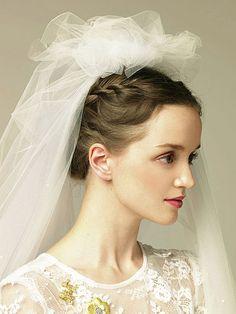 Tulle Bridal Headpiece + Veil