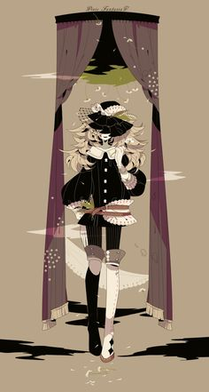 """She was back again. """"O-ho! Passed another challenge, ye did,"""" she snickered and twirled her hair with her finger, avoiding eye contact with the brim of her hat. """"Lets see how ye do with the next one, lass."""""""