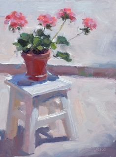 Official website of Lena Rivo, gouache, oil and acrylic painter based in Lisbon, Portugal. Here you will find free guides to painting, video tutorials and demonstrations. Acrylic Pouring Art, Artsy Photos, Oil Painters, Still Life Art, Gouache Painting, Geraniums, Painting Inspiration, Art Lessons, Flower Art