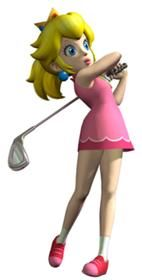 Mario Golf, Princess Peach! A simple cosplay idea that's still really cute! I'd do this for a Con-
