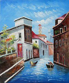 "Enchant Online Painting Mediterranean Landscape Oil Painting Venice Venice Canal, Size: 20"" x 24"", $88. Url: http://www.oilpaintingshops.com/enchant-online-painting-mediterranean-landscape-oil-painting-venice-venice-canal-1979.html"